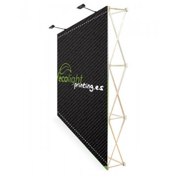 POP UP VELCRO 3x3 CON TROLLEY